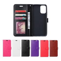 Samsung S20 - Crazy Horse Plånboksfodral - Välj Färg! Svart