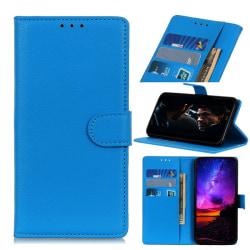 Motorola One Hyper - Litchi Plånboksfodral - Blå