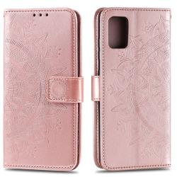 Samsung Galaxy A51 - Mandala Plånboksfodral - Roséguld