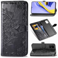 Samsung Galaxy A51 - Mandala Plånboksfodral - Svart