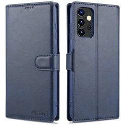 Samsung Galaxy A52 - AZNS Läder Fodral - Blå