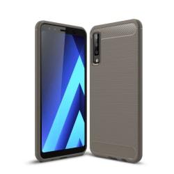 Samsung Galaxy A7 (2018) - Brushed TPU Skal - Grå