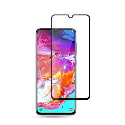 Samsung Galaxy A70 - AMORUS Härdat glas Heltäckande