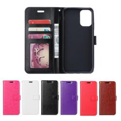 Samsung Galaxy A71 - Crazy Horse Plånboksfodral - Välj Färg! Svart