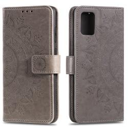 Samsung Galaxy A71 - Mandala Plånboksfodral - Grå