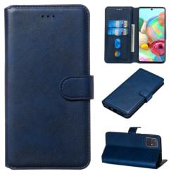Samsung Galaxy A71 - Plånboksfodral - Mörk Blå