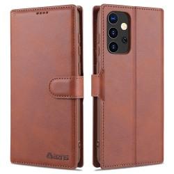 Samsung Galaxy A72 - AZNS Läder Fodral - Brun
