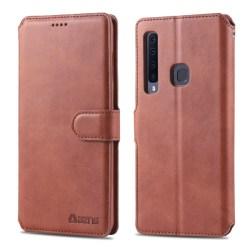 Samsung Galaxy A9 (2018) - AZNS Plånboksfodral - Brun