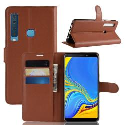 Samsung Galaxy A9 (2018) - Litchi Plånboksfodral - Brun Brown Brun
