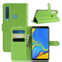 Samsung Galaxy A9 (2018) - Litchi Plånboksfodral - Grön Green Grön