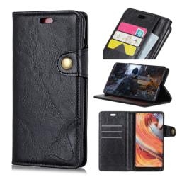 OnePlus 6T - Crazy Horse Plånboksfodral - Svart