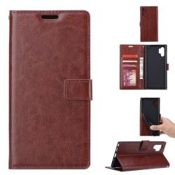 Samsung Galaxy Note 10 Plus - Plånboksfodral - Brun