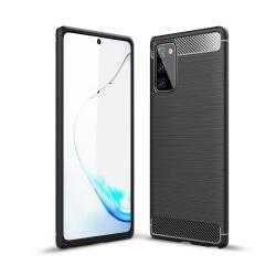 Samsung Galaxy Note 20 - Brushed Textur Skal - Svart