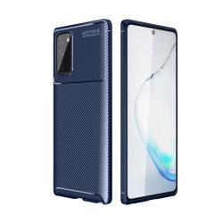 Samsung Galaxy Note 20 - Kolfiber Textur Skal - Blå