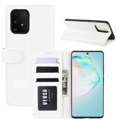 Samsung Galaxy S10 Lite - Crazy Horse Plånboksfodral - Vit