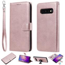 Samsung Galaxy S10 - Plånboksfodral/Magnet Skal - Roséguld