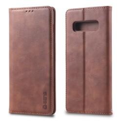 Samsung Galaxy S10 Plus - AZNS Plånboksfodral - Brun
