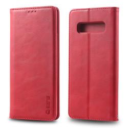 Samsung Galaxy S10 Plus - AZNS Plånboksfodral - Röd