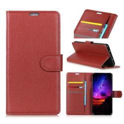 Sony Xperia 1 - Plånboksfodral Litchi - Brun