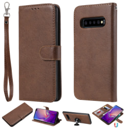 Samsung Galaxy S10 Plus - Plånboksfodral/Magnet Skal - Brun
