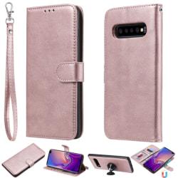 Samsung Galaxy S10 Plus - Plånboksfodral/Magnet Skal - Roséguld