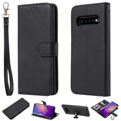 Samsung Galaxy S10 Plus - Plånboksfodral/Magnet Skal - Svart