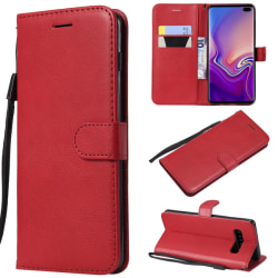 Samsung Galaxy S10 Plus - Plånboksfodral - Röd