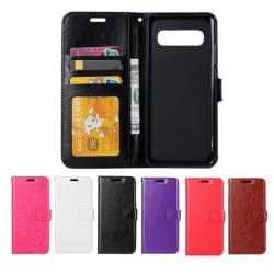 Samsung Galaxy S10 Plus - Plånboksfodral - Välj Färg! Black Svart
