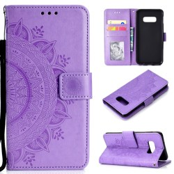 Samsung Galaxy S10e - Mandala Plånboksfodral - Lila