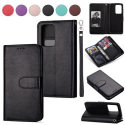 Samsung Galaxy S20 - 9-korts Plånboksfodral - Svart