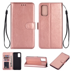 Samsung Galaxy S20 - Crazy Horse Plånboksfodral - Roséguld