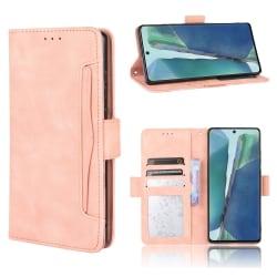 Samsung Galaxy S20 FE - Fodral Med Avtagbart Kortfodral - Ljus R LightPink Ljus Rosa