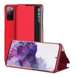 Samsung Galaxy S20 FE - View Window Flip Fodral - Röd Red Röd