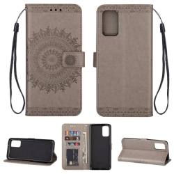 Samsung Galaxy S20 - Mandala Plånboksfodral - Grå