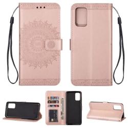 Samsung Galaxy S20 - Mandala Plånboksfodral - Roséguld