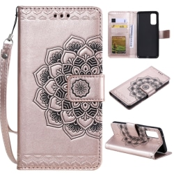Samsung Galaxy S20 - Mandala Flower Plånboksfodral - Rosé