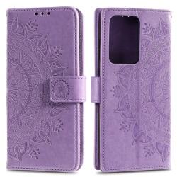 Samsung Galaxy S20 Ultra - Mandala Plånboksfodral - Lila