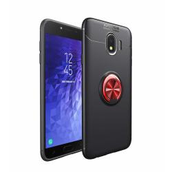 Samsung J4 Plus - Ring Skal - Svart/Röd