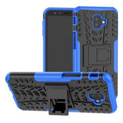 Samsung J6 Plus   Ultimata stöttåliga skalet med stöd - Blå