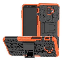 Samsung J6 Plus   Ultimata stöttåliga skalet med stöd - Orange