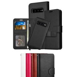 Samsung S10 - Plånboksfodral / Magnet Skal - Välj Färg! Svart