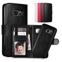 Samsung S7 - Plånboksfodral / Magnet Skal 2 in 1 - Välj Färg! Black Svart