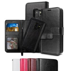 Samsung S9 - Plånboksfodral / Magnet Skal 2 in 1 - Svart Black Svart