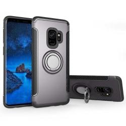 Samsung S9 PLUS - Armour Ring Skal - Grå Grey Grå