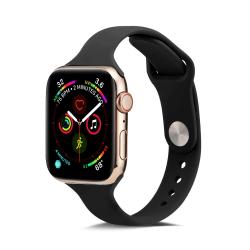 Silikon Armband Apple Watch 38/40 mm - Svart