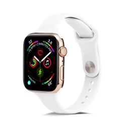 Silikon Armband Apple Watch 38/40 mm - Vit