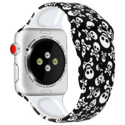 Silikon Armband Apple Watch 40/38 mm - Döskallar