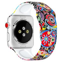 Silikon Armband Apple Watch 40/38 mm - Hypnotic