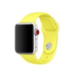 Silikon Armband Apple Watch 40/38 mm (S/M) - Gul