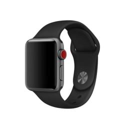 Silikon Armband Apple Watch 42/44 mm (S/M) - Svart Black Svart